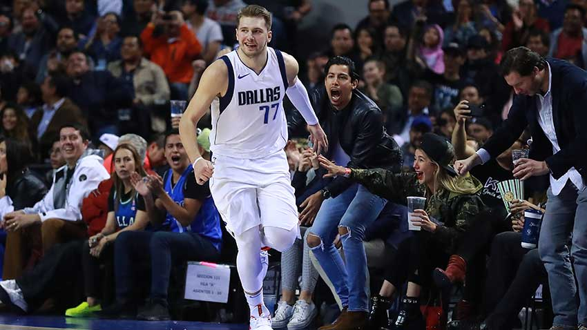 Doncic Scores a Triple Double to Help Mavs Win in Mexico
